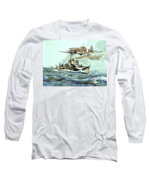 Hms Ledbury Long Sleeve T-Shirt by Ray Agius
