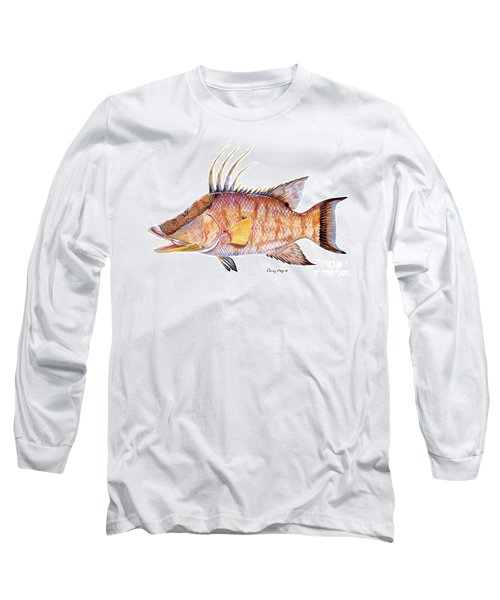 Hog Fish Long Sleeve T-Shirt by Carey Chen
