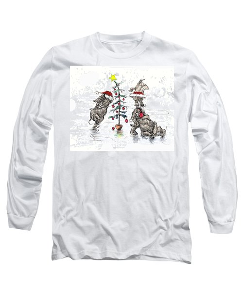 Holiday Ice Long Sleeve T-Shirt by Donna Tucker