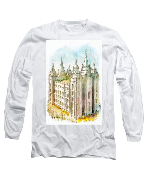Long Sleeve T-Shirt featuring the painting Holiness To The Lord by Greg Collins
