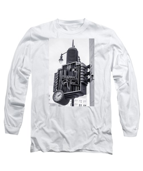 Hollywood Landmarks - Hollywood And Vine Sign Long Sleeve T-Shirt by Art Block Collections