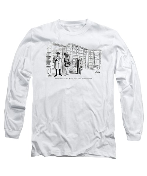 Holy Cow!  What Kind Of Crazy People Used To Live Long Sleeve T-Shirt