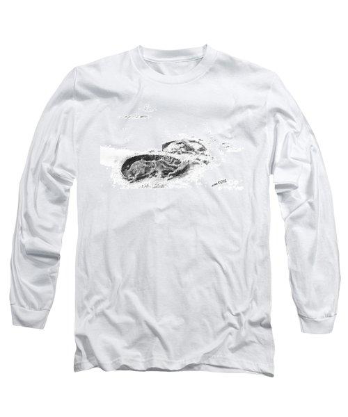 Hoof Prints Long Sleeve T-Shirt by Marianne NANA Betts