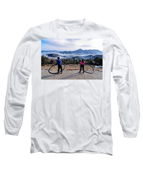 Hoops On The Mountaintop Long Sleeve T-Shirt