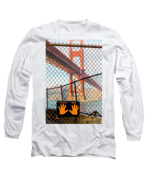 Hoppers Hands Long Sleeve T-Shirt by Jerry Fornarotto