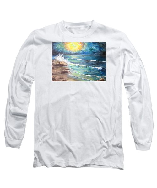 Long Sleeve T-Shirt featuring the painting Horizons by Cheryl Pettigrew