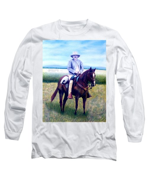 Horse And Rider Long Sleeve T-Shirt by Stacy C Bottoms