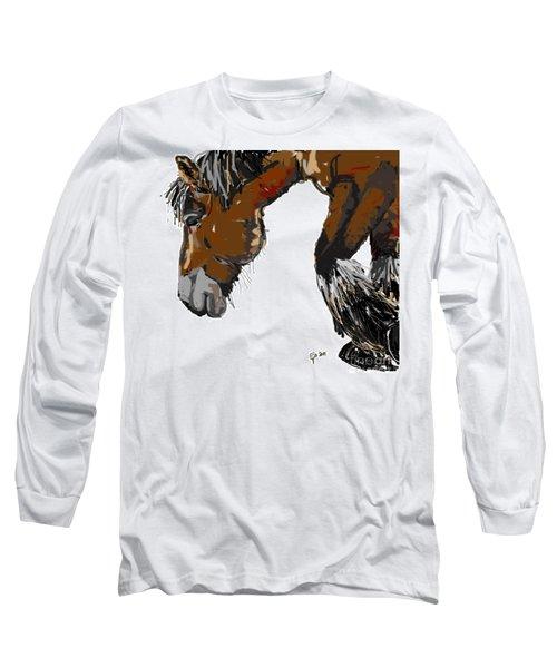 horse - Guus Long Sleeve T-Shirt by Go Van Kampen
