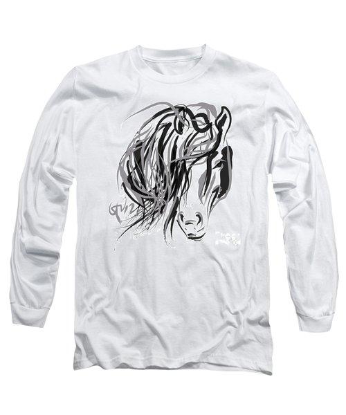Horse- Hair And Horse Long Sleeve T-Shirt by Go Van Kampen