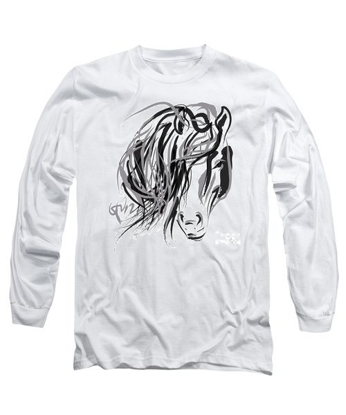 Horse- Hair And Horse Long Sleeve T-Shirt