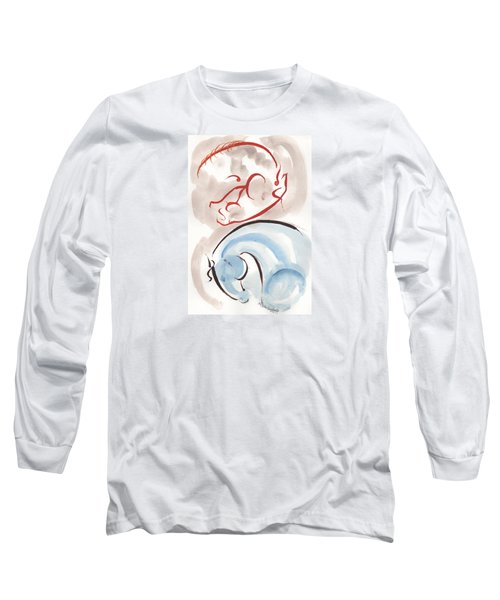 Long Sleeve T-Shirt featuring the painting Horse In Simplicity by Mary Armstrong