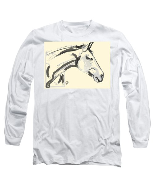 Long Sleeve T-Shirt featuring the painting Horse - Lovely by Go Van Kampen