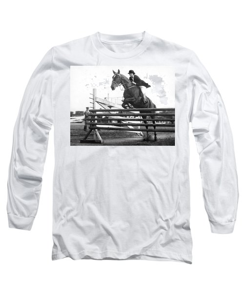Horse Taking Jump Long Sleeve T-Shirt