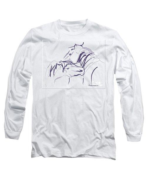 Horse - Together 10 Long Sleeve T-Shirt by Go Van Kampen