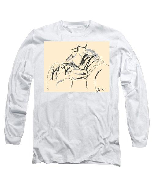 Horse - Together 4 Long Sleeve T-Shirt by Go Van Kampen