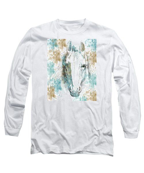 Horse Long Sleeve T-Shirt by P S