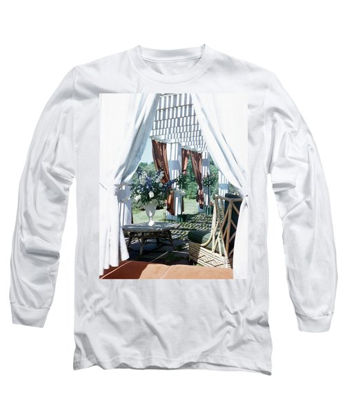 Horst's Patio In Long Island Long Sleeve T-Shirt