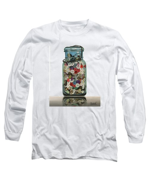 Long Sleeve T-Shirt featuring the painting Hot Buttons by Ferrel Cordle
