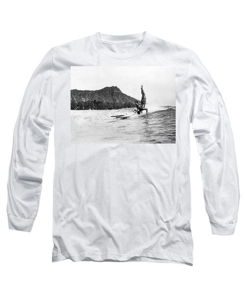 Hot Dog Surfers At Waikiki Long Sleeve T-Shirt