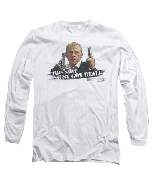 Hot Fuzz - Just Got Real Long Sleeve T-Shirt