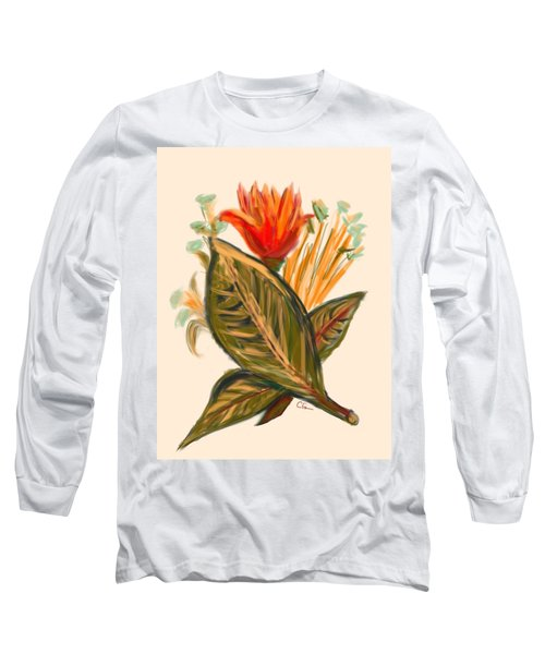 Long Sleeve T-Shirt featuring the digital art Hot Tulip Spring by Christine Fournier