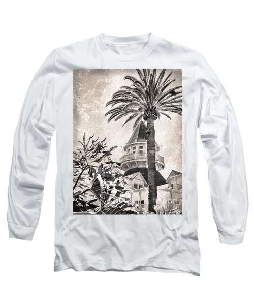 Hotel Del Coronado Long Sleeve T-Shirt by Peggy Hughes