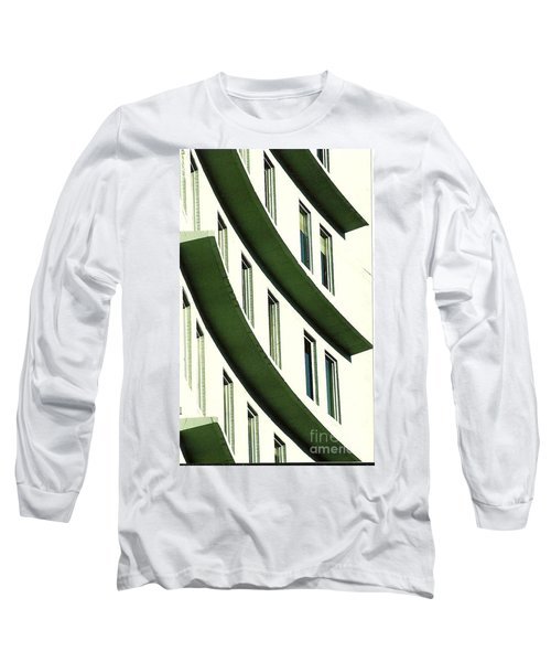 Long Sleeve T-Shirt featuring the photograph Hotel Ledges Of A New Orleans Louisiana Hotel by Michael Hoard