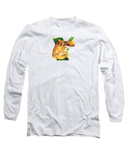 Hourglass Treefrog Long Sleeve T-Shirt by Cindy Hitchcock