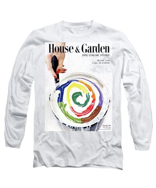 House & Garden Cover Of A Woman's Hand Stirring Long Sleeve T-Shirt