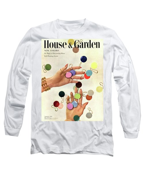 House & Garden Cover Of Woman's Hands With An Long Sleeve T-Shirt