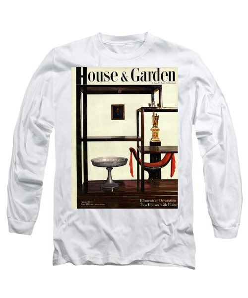 House And Garden Cover Featuring A Chinese Long Sleeve T-Shirt