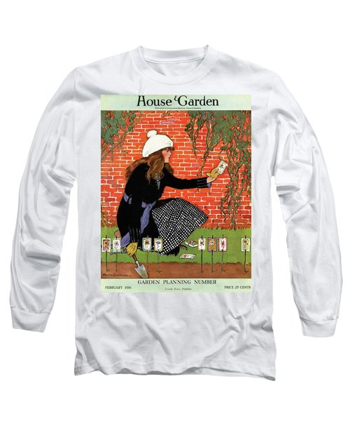 House And Garden Garden Planting Number Cover Long Sleeve T-Shirt