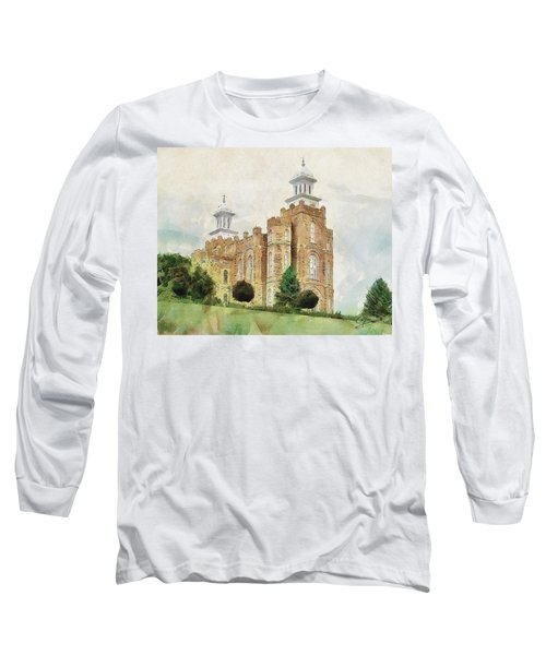 Long Sleeve T-Shirt featuring the painting House Of Defense by Greg Collins