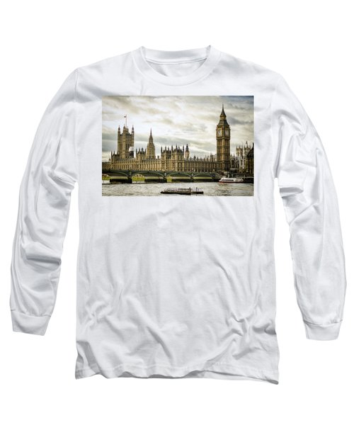 Houses Of Parliament On The Thames Long Sleeve T-Shirt