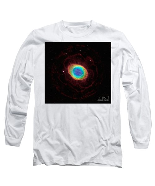 Long Sleeve T-Shirt featuring the  Hubble Reveals The Ring Nebulas True Shape by Paul Fearn