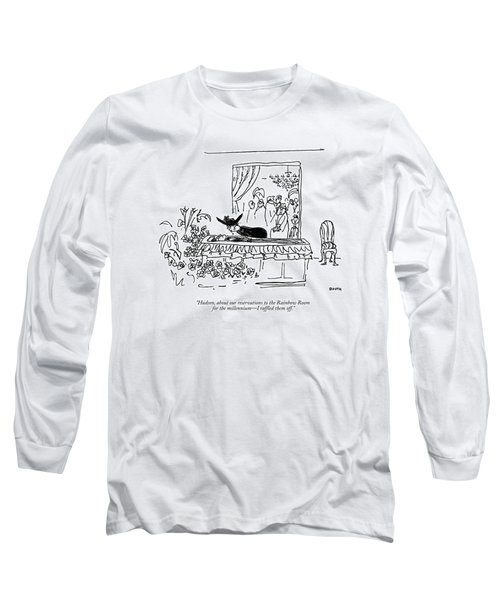 Hudson, About Our Reservations To The Rainbow Long Sleeve T-Shirt
