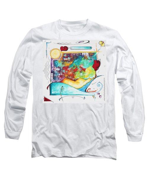 Huge Original Pop Art Style Painting Unique Fun Colorful Art By Megan Duncanson Long Sleeve T-Shirt