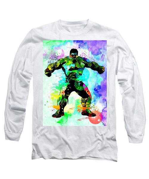 Hulk Watercolor Long Sleeve T-Shirt