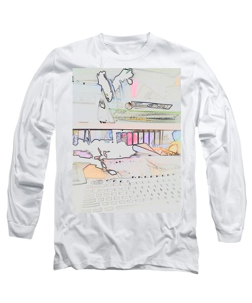 Long Sleeve T-Shirt featuring the photograph Human Technology by Fortunate Findings Shirley Dickerson