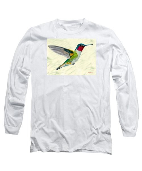 Da103 Broadtail Hummingbird Daniel Adams Long Sleeve T-Shirt