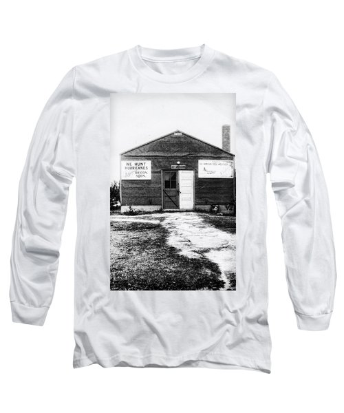 Hurricane Hunters Outbuilding In Alaska Long Sleeve T-Shirt by Vizual Studio