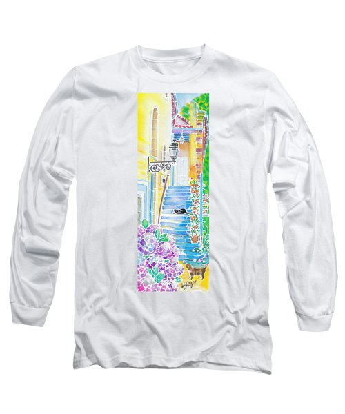 Hydrangeas And The Hotel Long Sleeve T-Shirt
