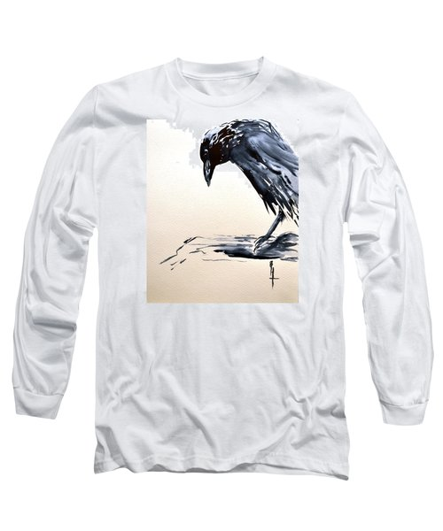 I Am A Crow Long Sleeve T-Shirt by Beverley Harper Tinsley