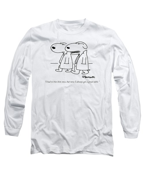 I Had To Bite Him Once Long Sleeve T-Shirt