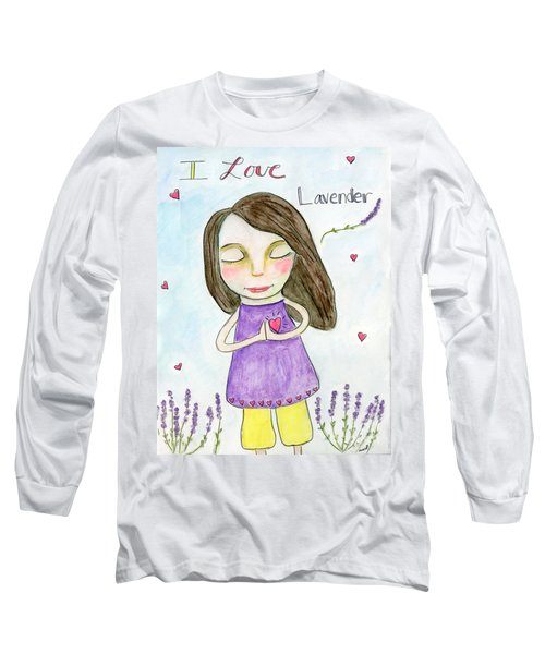 I Love Lavender Long Sleeve T-Shirt