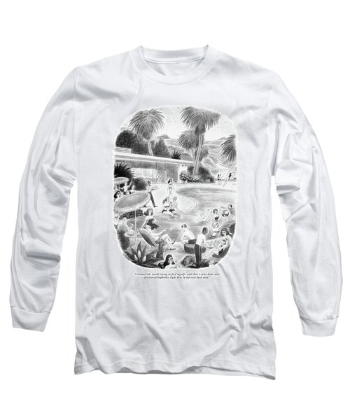I Roamed The World Trying To Find Myself Long Sleeve T-Shirt