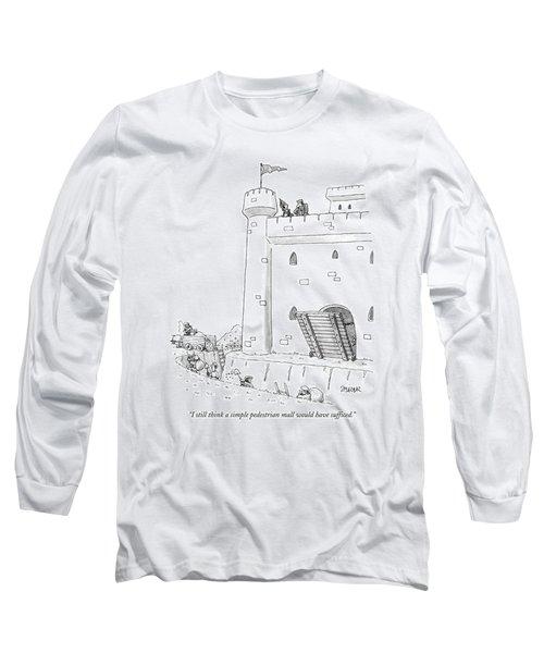I Still Think A Simple Pedestrian Mall Long Sleeve T-Shirt