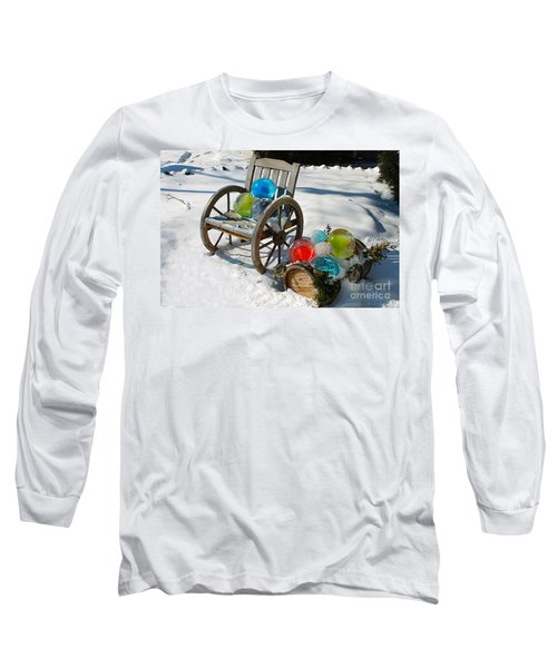 Long Sleeve T-Shirt featuring the photograph Ice Ball Art by Nina Silver