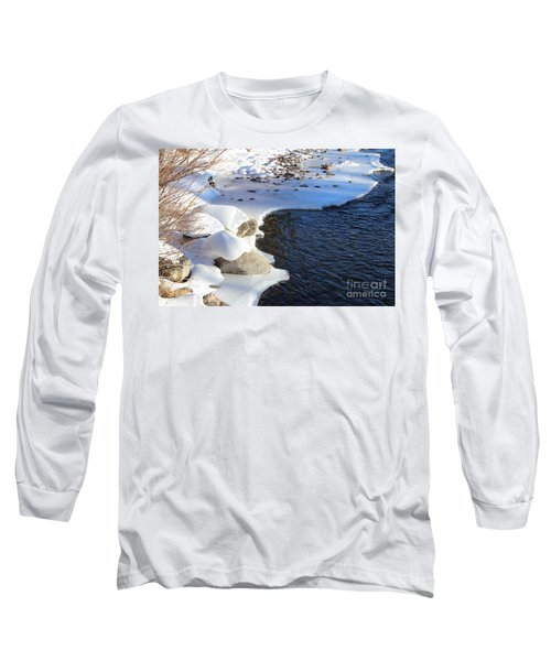 Ice Cold Water Long Sleeve T-Shirt by Fiona Kennard