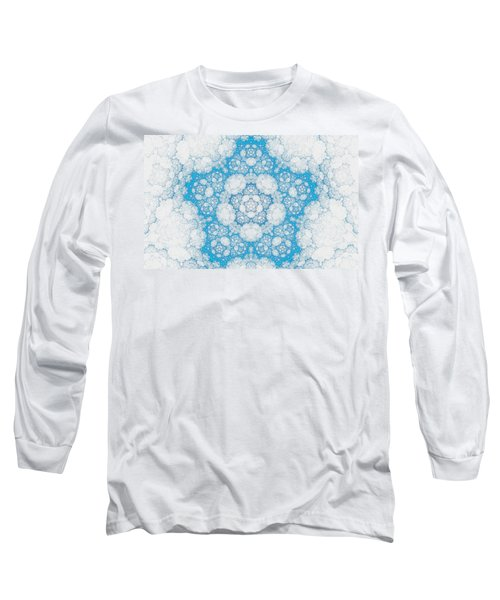 Long Sleeve T-Shirt featuring the digital art Ice Crystals by GJ Blackman